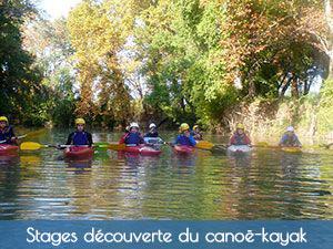 stage découverte canoë-kayak